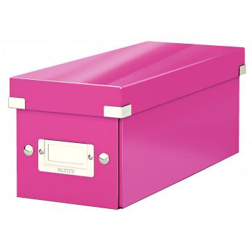 Cutie pentru CD-uri, roz, LEITZ Click & Store