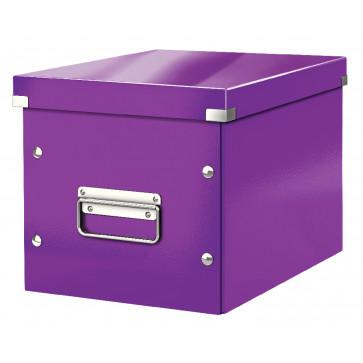 Cutie pentru depozitare, mov, Leitz Click & Store Cub Medie
