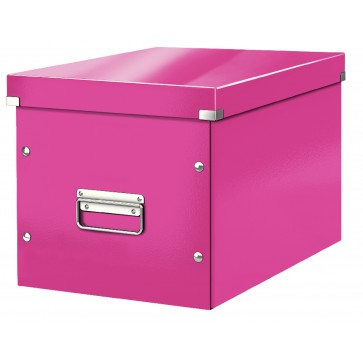 Cutie pentru depozitare, roz, Leitz Click & Store Cub Mare