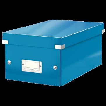 Cutie pentru DVD-uri, albastru, LEITZ Click & Store
