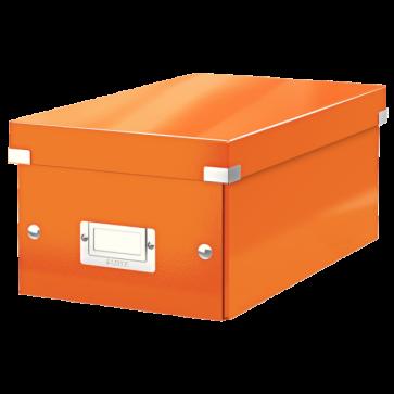 Cutie pentru DVD-uri, portocaliu, LEITZ Click & Store