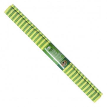 Hartie creponata 200 x 50cm, nr. 70, verde cu dungi galbene, KOH-I-NOOR