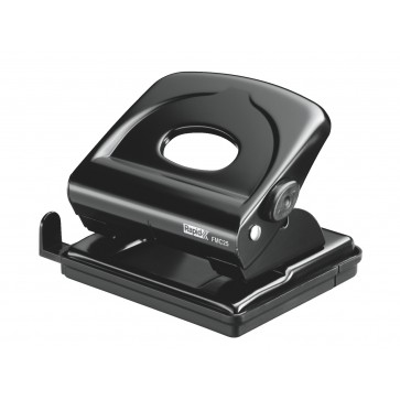 Perforator de birou, pentru maxim 25 de coli, negru, RAPID FMC25