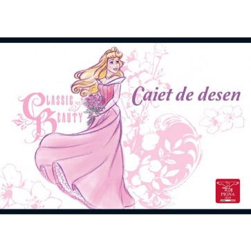 Caiet pentru desen, 17 x 24cm, 16 file, PIGNA Premium - Princess