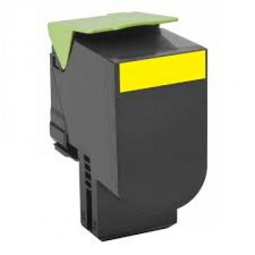 Toner, yellow, LEXMARK 80C0H40