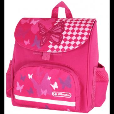 Ghiozdan ergonomic, neechipat, HERLITZ Mini SoftBag Pink Butterfly
