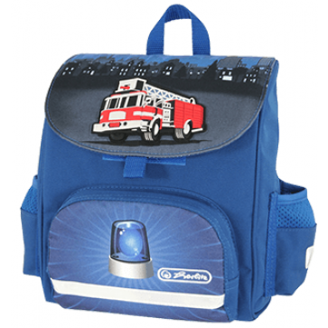 Ghiozdan ergonomic, neechipat, HERLITZ Mini SoftBag Fire Truck
