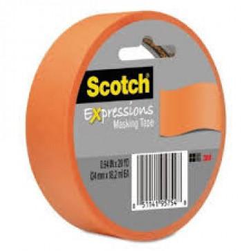 Banda adeziva decorativa, oranj, SCOTCH
