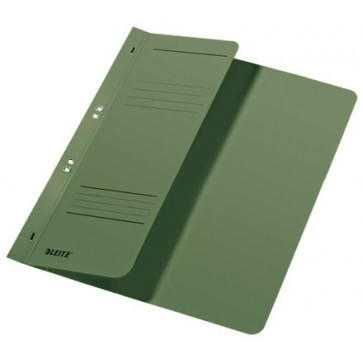 Dosar din carton, cu capse 1/2, 250 g/mp, verde, LEITZ