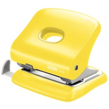 Perforator plastic de birou, pentru maxim 30 coli, galben, RAPID FC30