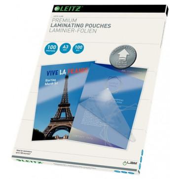 Folie laminare UDT, A3, 100 microni, 100 folii/cutie, LEITZ