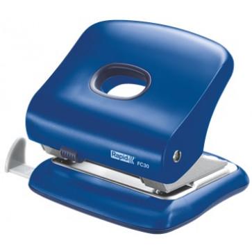 Perforator plastic de birou, pentru maxim 30 coli, albastru, RAPID FC30