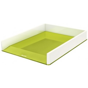 Tavita documente, culori duale, verde metalizat, LEITZ WOW