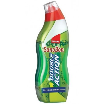 Detartrant spuma pentru WC, 700 ml, SANO Bon Liquid Double Action 2-in-1