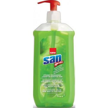 Detergent lichid pentru vase, 1 L, Mar si Mosc, SANO San Sensitive Pump
