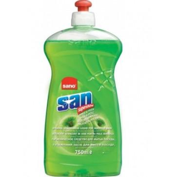 Detergent lichid pentru vase, 750 ml, mar si mosc, SANO San