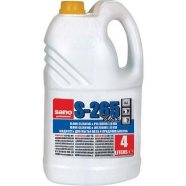 Detergent pardoseli cu ceara, 4L, SANO Floor Cleaner S-265