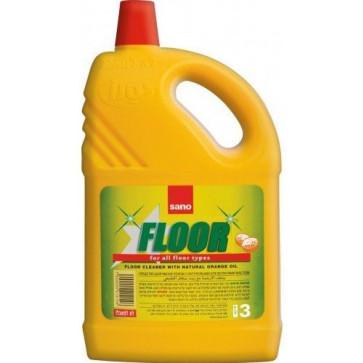 Detergent pardoseli, ulei de portocale pardoseli, 3L, SANO Floor Cleaner