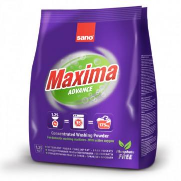 Detergent pudra pentru tesaturi, 1.25 Kg, SANO Maxima Advance