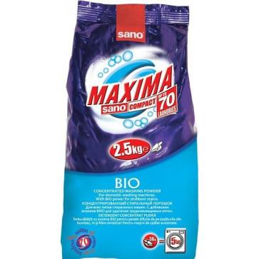 Detergent pudra pentru tesaturi, 2.50 Kg, SANO Maxima Bio color