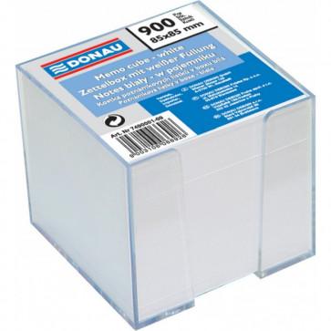 Cub hartie, alb, suport plastic, 92 x 92 x 82mm,  750 file, DONAU