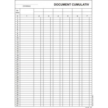 Document cumulativ, vertical, A4, tipar fata, 100 file/carnet
