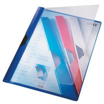 Dosar din plastic, cu clip, albastru, LEITZ Clipsy Plus