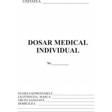 Dosar medical individual + fisa de aptitudine, A5, tipar fata/verso, 20 file/carnet