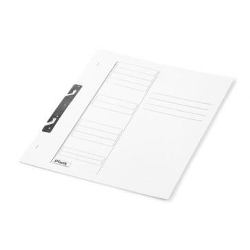 Dosar din carton, incopciat 1/1, 230 g/mp, alb, PLUSS