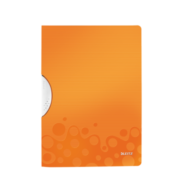 Dosar din plastic, cu clip, portocaliu metalizat, LEITZ WOW ColorClip