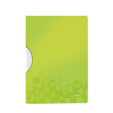 Dosar din plastic, cu clip, verde metalizat, LEITZ WOW ColorClip