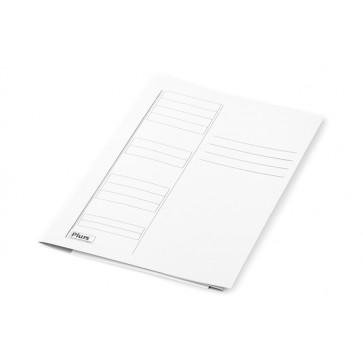Dosar din carton, plic, 230 g/mp, alb, PLUSS
