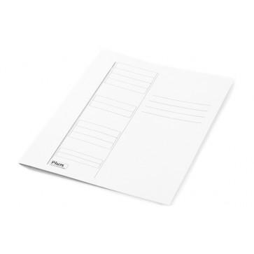 Dosar din carton, simplu, 230 g/mp, alb, PLUSS