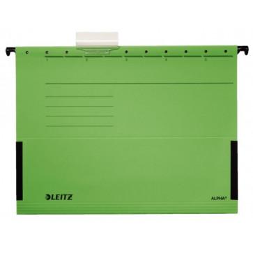 Dosar suspendabil, cu burduf, verde, LEITZ Alpha