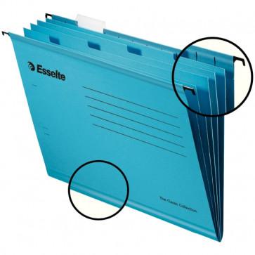 Dosar suspendabil cu separatoare, albastru, 10 buc, Esselte Classic