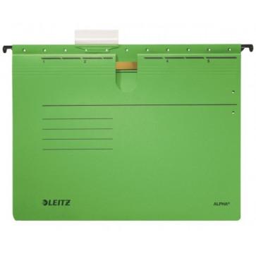 Dosar suspendabil, cu sina, verde, LEITZ Alpha