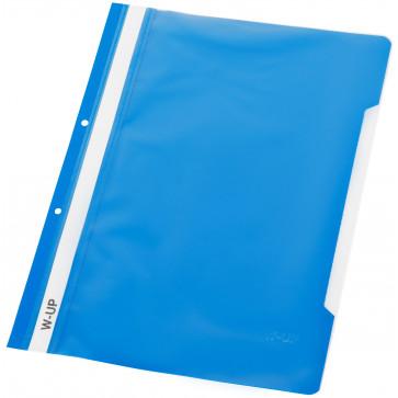 Dosar din plastic, cu sina si perforatii, albastru, WORKING-UP