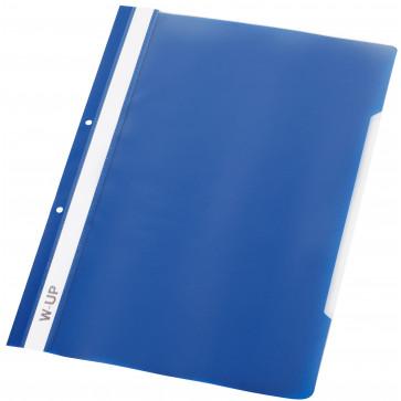Dosar din plastic, cu sina si perforatii, bleumarin, WORKING-UP
