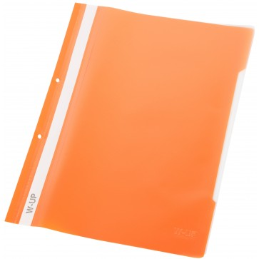 Dosar din plastic, cu sina si perforatii, portocaliu, WORKING-UP