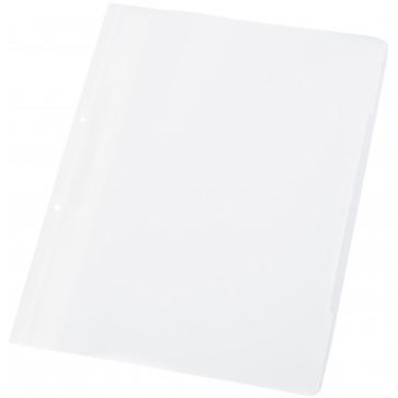 Dosar din plastic, cu sina si perforatii, alb, WORKING-UP
