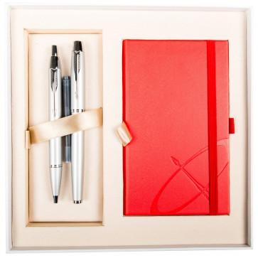 Set stilou + pix + notes, argintiu mat, cu accesorii cromate, PARKER I.M.