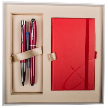 Set stilou + pix + notes, roz lac, cu accesorii cromate, PARKER Urban Fashion