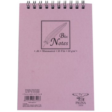 Bloc notes cu spira, A6, 50 file, matematica PIGNA Basic