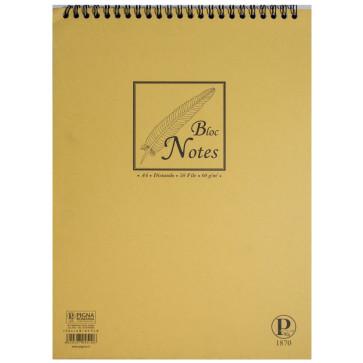 Bloc notes cu spira, A4, 50 file, dictando, PIGNA Basic