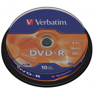 DVD-R, 4.7GB, 16X, 10 buc/spindle, VERBATIM Matt Silver