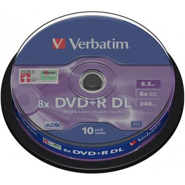 DVD+R, 8.5GB, double layer, 8X, 10 buc./spindle, VERBATIM Matt Silver