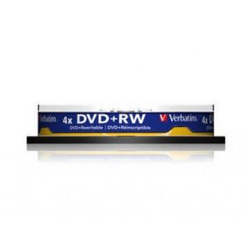 DVD+RW, 4.7GB, 4X, 10 buc/bulk, VERBATIM Matt Silver