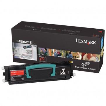 Toner, black, LEXMARK E450A21E