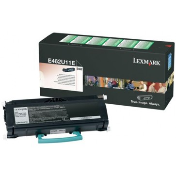 Toner, black, LEXMARK E462U11E