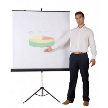 Ecran de proiectie, cu trepied, 150 x 150cm, BI-OFFICE